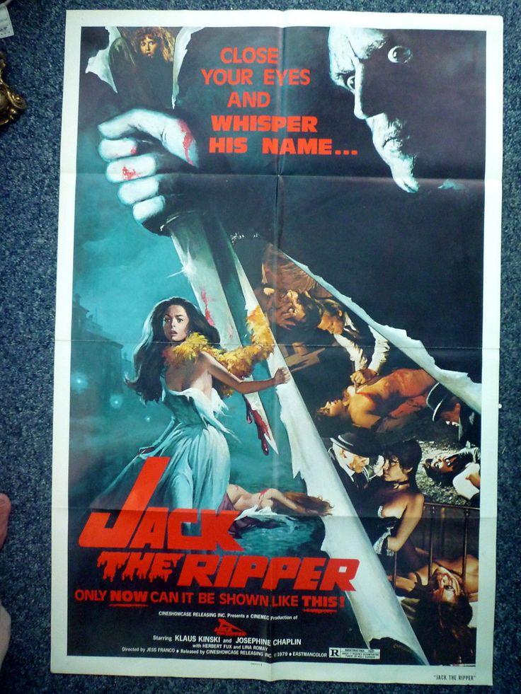 JACK THE RIPPER Original 1970s US OS Movie Poster Klaus Kinski Josephine Chaplin