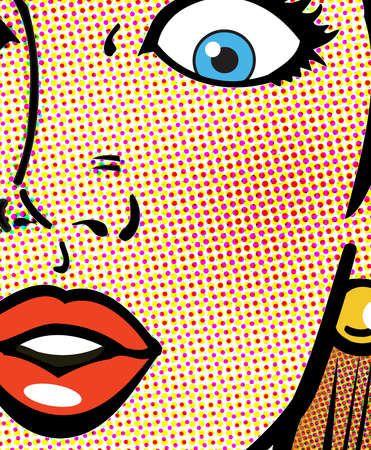 Robert Dale - Surprised Woman pop art