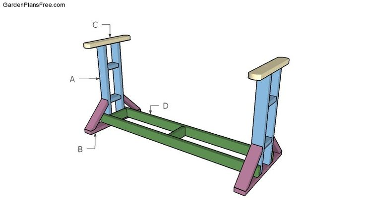 Building a glider swing stand | Outdoor Furniture Plans ...