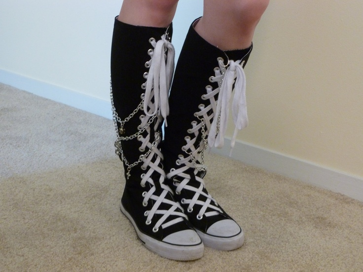 Charmed Converse Knee Highs. $150.00, via Etsy.
