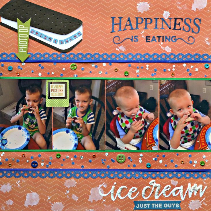Happiness Is Eating...Ice Cream...4 photo layout