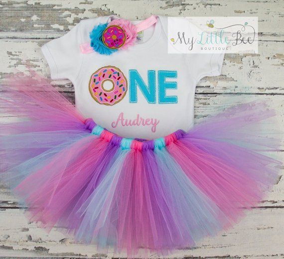 So Sweet to BEE One Pink Tutu Shirt Headband 1st First Birthday Girl Outfit Set