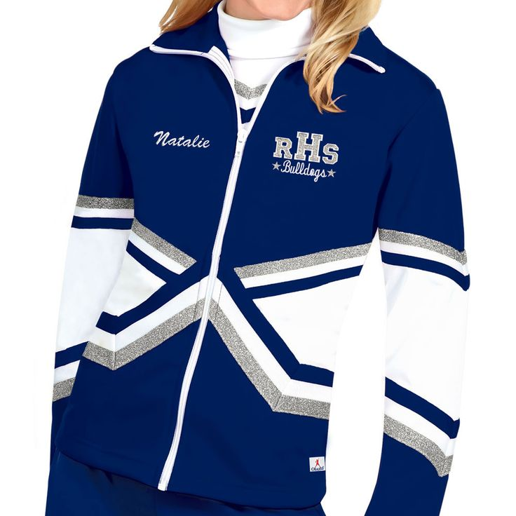 In-Stock Metallic Double Knit Warm-Up Cheerleading Jacket From Omni Cheer