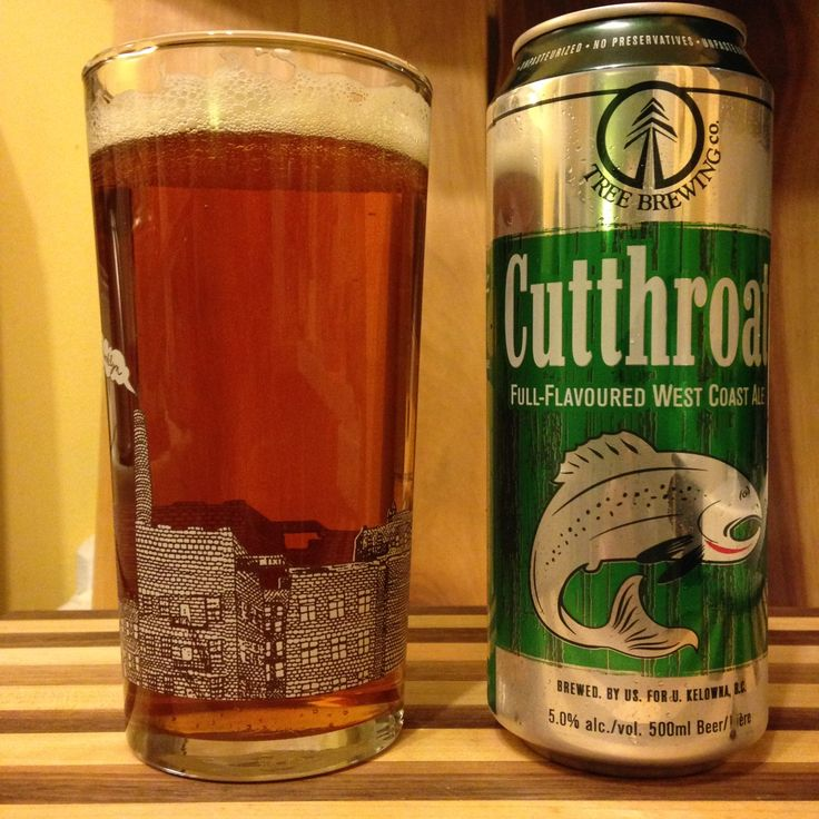 10. Cutthroat Full-Flavoured West Coast Ale A clean ale flavour with some spicier, slightly floral hops. Finishes smooth with a nice, tad bitter aftertaste. Tree Brewing, Kelowna, BC36 IBU5%