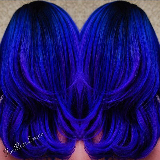 My Blue Heaven Royal blue color design by Toni Rose Larson @colordollzbytoni #hotonbeauty #kenra