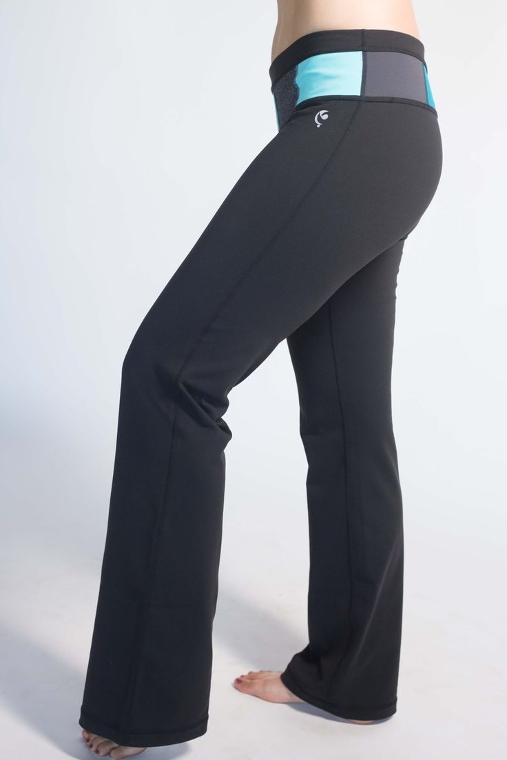 Art of Athletics - Women's Athletic Wear - Reversible Color Block Yoga Pant - Blue