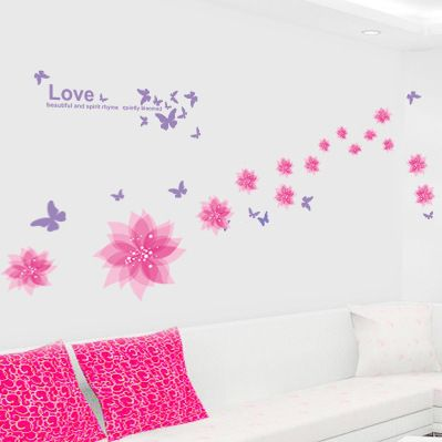 ... Buy Quality Wallpaper Art Murals Directly From China Wallpaper Roll  Suppliers: 2015 New Arrival LOVE Butterfly U0026 Flower DIY Wall Stickers Home  Decor ... Part 96