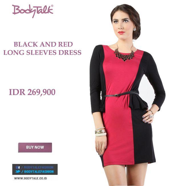 Dress Black and Red matching dengan gaya mu hari ini Ladies IDR 269,900 >> http://ow.ly/uZMHB