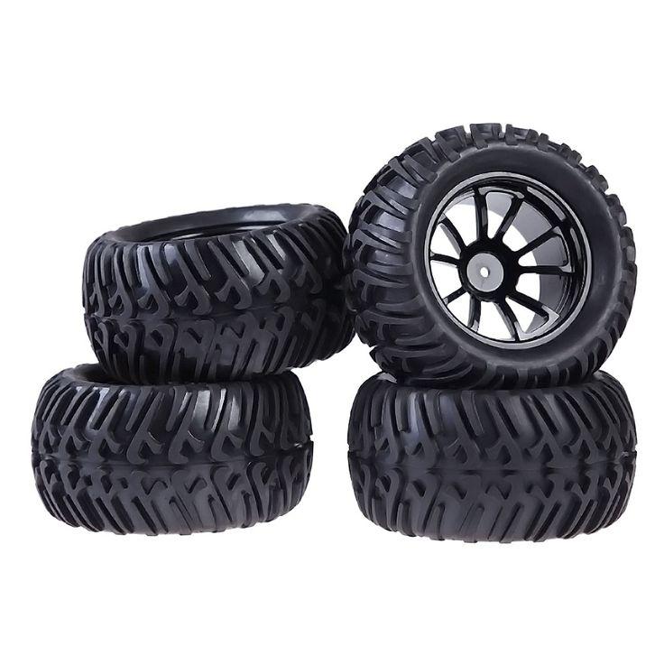 $35.00 (Buy here: https://alitems.com/g/1e8d114494ebda23ff8b16525dc3e8/?i=5&ulp=https%3A%2F%2Fwww.aliexpress.com%2Fitem%2FNew-4PCS-Wheel-Rim-Tires-For-HSP-1-10-Monster-Truck-RC-Car-12mm-Hub%2F32668183235.html ) 4PCS Wheel Rim & Tires For HSP 1:10 Monster Truck RC Car 12mm Hub Assemblage Part Suitable for RC 1:10 Flat Racing Car for just $35.00