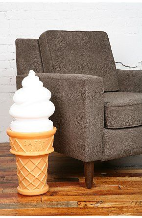 When I Grow Up I Will Have An Ice Cream Cone Lamp In My Home