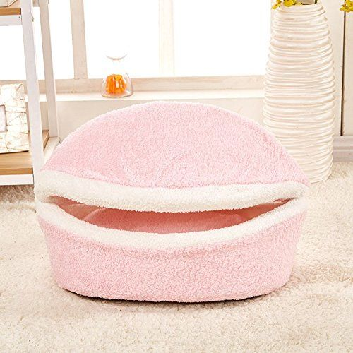 Cute Small Dogs Cats Sleeping Bag Nest Windproof Soft Warm Hamburg Shape Hot Sale Cat Bed Products For Pets Cats ** You can get additional details, click the image : Cat House