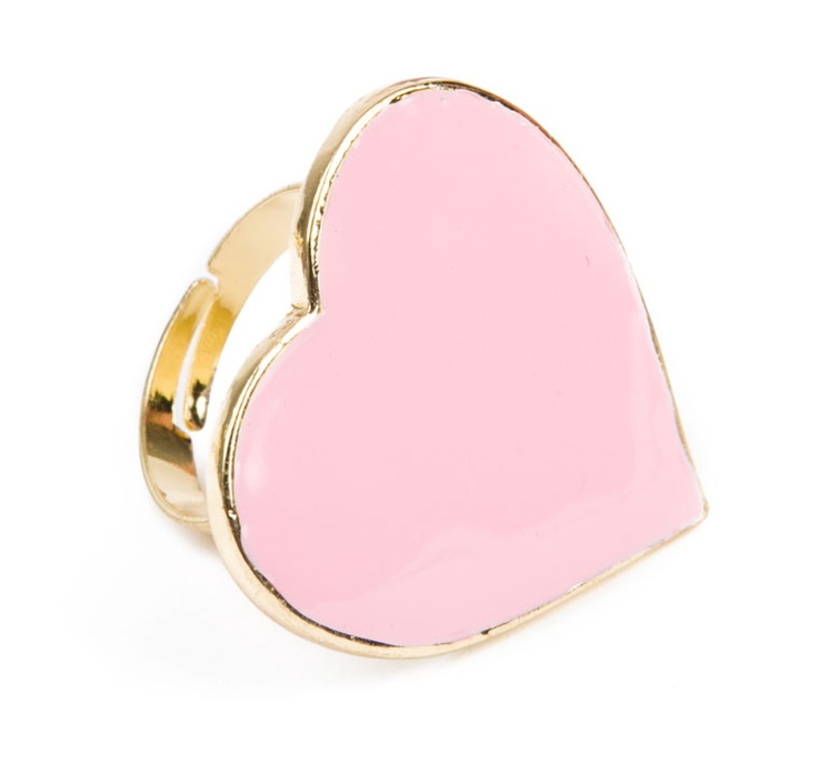 ENAMEL COLORED HEART RING