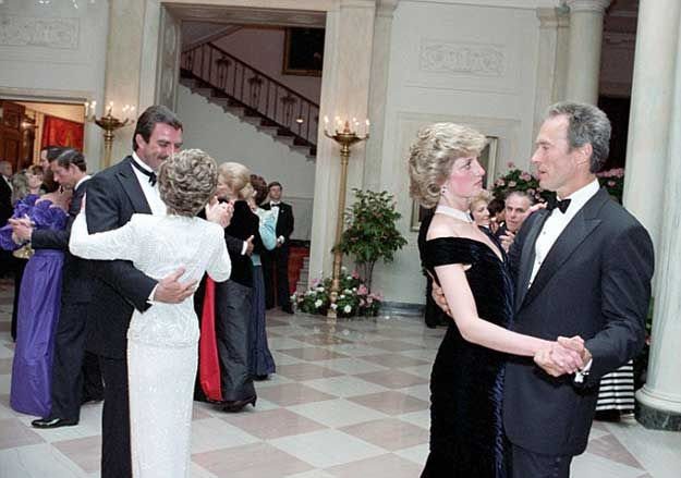 Tom Selleck, Nancy Reagan, Princess Diana and Clint Eastwood