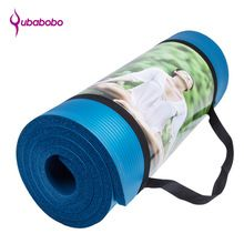 15 MM NBR Non-slip Marque Tapis De Yoga Pour Fitness Pilates Sport Tampons tapis de Camping En Plein Air Tapis de Pique-Nique Tapis + Sac + Sangle De Yoga De Yoga(China)