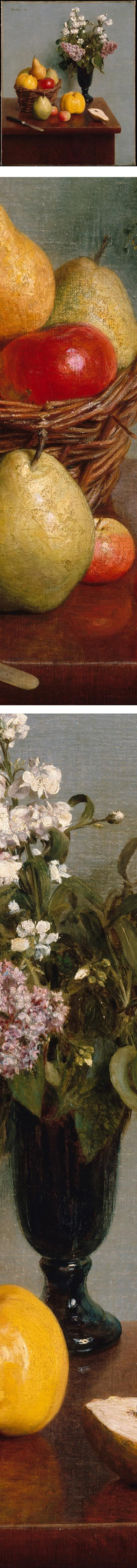 Great blog for looking at pretty art.  Still Life with Flowers and Fruit, Henri Fantin-Latour