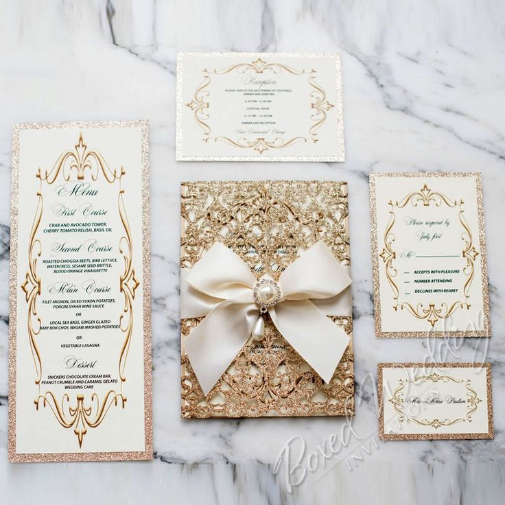 Best 25 laser cut invitation ideas on pinterest laser cut this invitation is the epitome of elegance the first thing your guests will see is the beautiful ivory satin ribbon embellished with a princess like pearl solutioingenieria Image collections