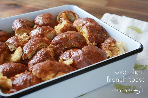 overnight #challah French toast #casserole | CherylStyle.com
