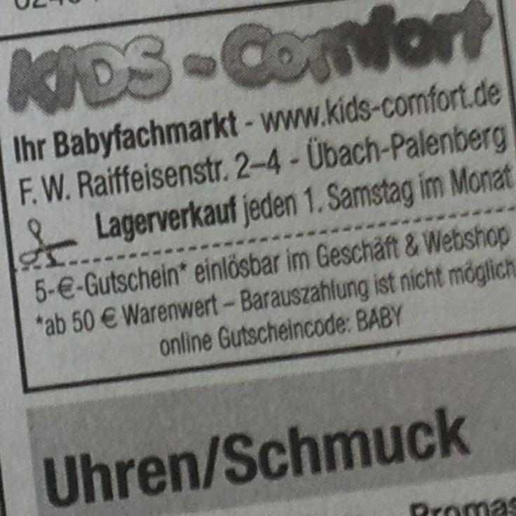 Kids-Comfort Babyfachmakt in Übach-Palenberg | Ab Juni veranstalten wir jeden ersten Samstag im Monat einen Lagerverkauf !! -- 10.00 bis 14.00 Uhr -- !! Top Marken zu Top Preisen! Viele Schnäppchen, B-Ware und Retouren zu unschlagbaren Preisen! Nur vor Ort bei uns in Übach-Palenberg!!  #schnaeppchen #lagerverkauf #aachen #wuerselen #uebachpalenberg #heinsberg #geilenkirchen #erkelenz #linnich #alsdorf #babyfachmarkt #babymarkt #kinderwagen #buggy #spielzeug #kidscomfort