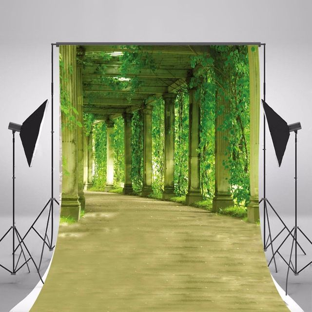 2017 Hot Wedding Photographic Backgrounds Green Scenic Photo Backdrops Thin Vinyl Backgrounds For Photo Studio Fotografia