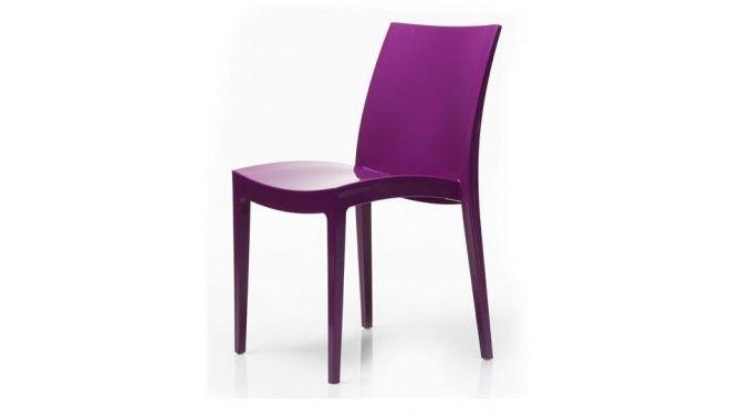 Chaise design polypropylène violet - Daru