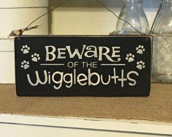 Beware of dog sign | Etsy