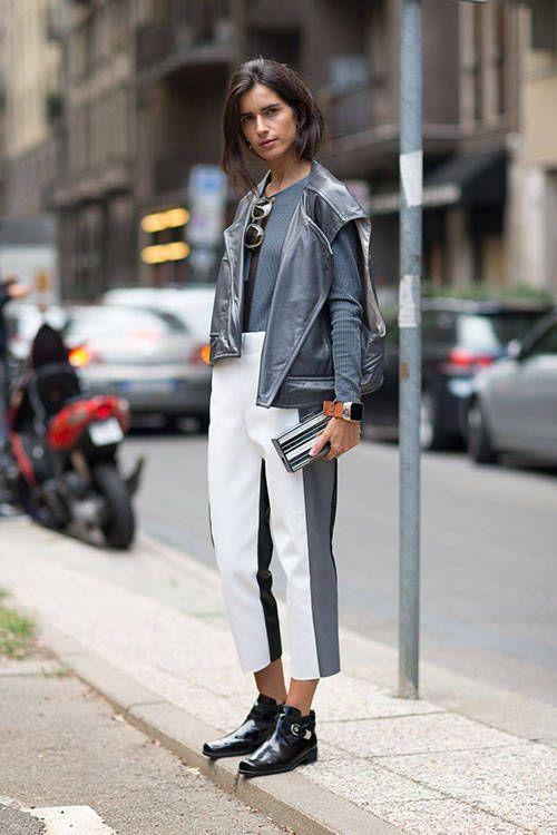 Street Style Milan Fashion Week Spring 2014 Cal A Curtas E Bita