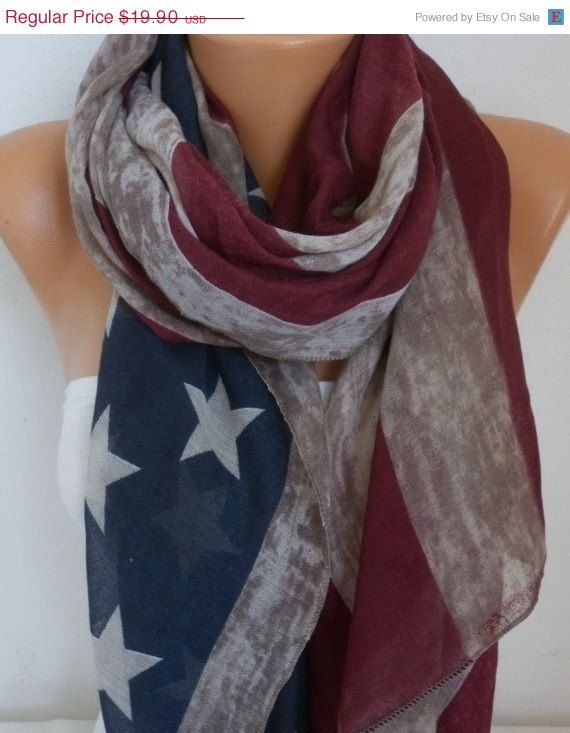 Best 25 American Flag Scarf Ideas On Pinterest American
