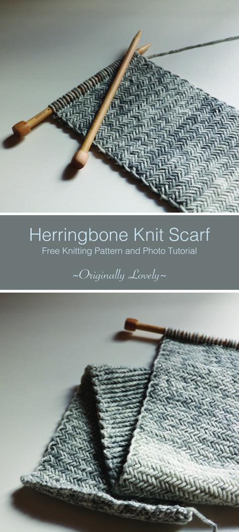 Herringbone Knit Scarf Knit Stuff Pinterest Knitting Knitting