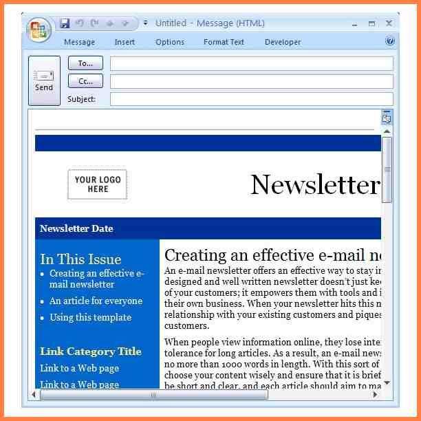 Microsoft Publisher Newsletter Templates Dengan Gambar