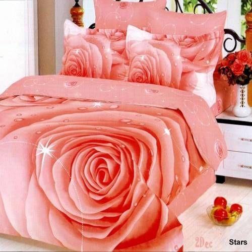 Le Vele Stars Pink Rose Bedding By Le Vele Bedding