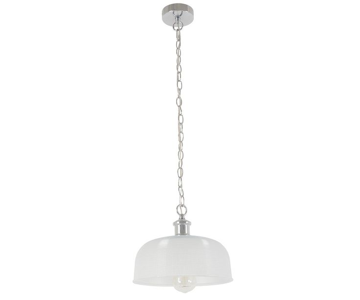 Charlize Pendant in Frost/Chrome