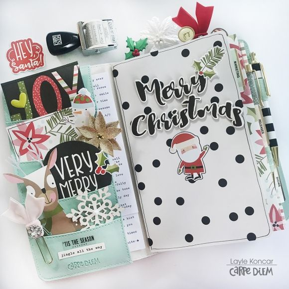 Cream Blossom Traveler's Notebook featuring the Oh What Fun Simple Set and free printables by marketing director Layle Koncar