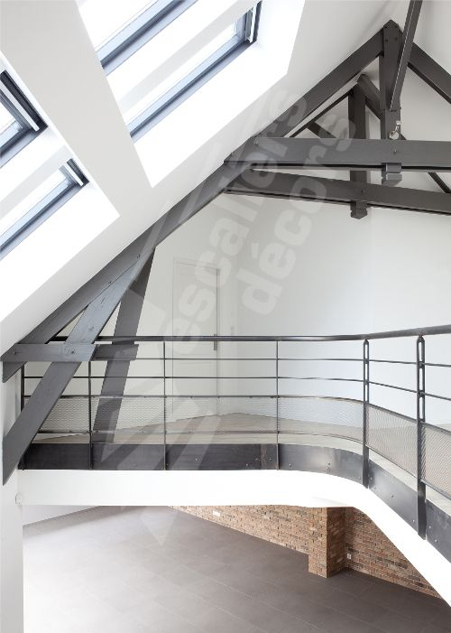 photo dh88 spir 39 d co san francisco garde corps en protection vide mezzanine en acier au. Black Bedroom Furniture Sets. Home Design Ideas