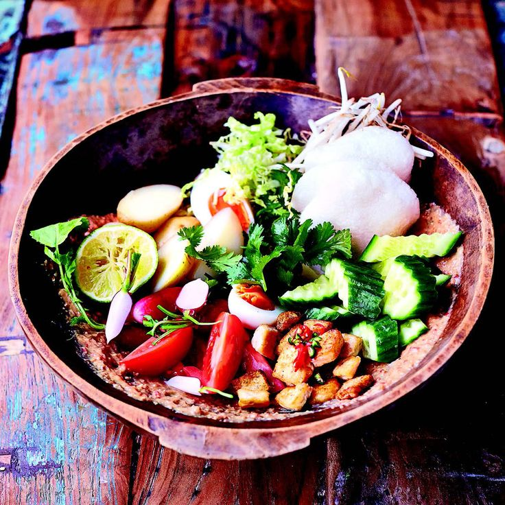 Jamie Oliver's Gado Gado is a mega salad which has its roots in Sudanese cooking