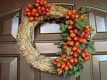 jesienny wieniec na drzwi