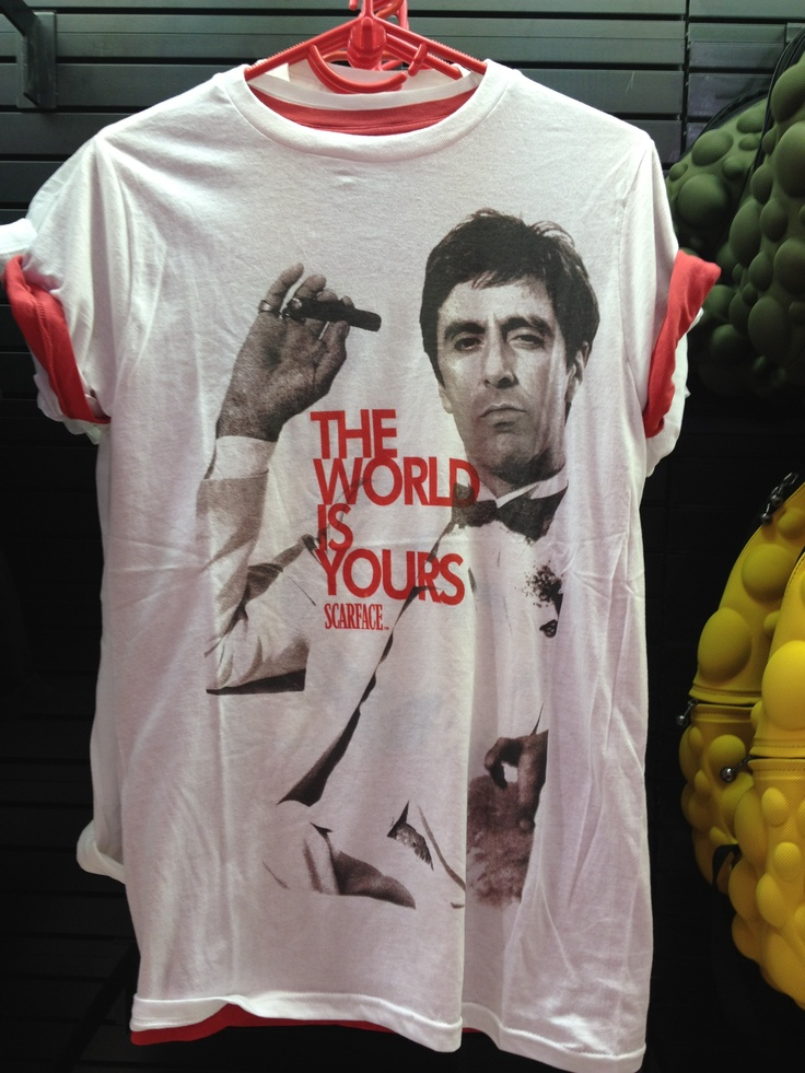 Scarface t-shirt. Can I like, just have this? Now. ♥