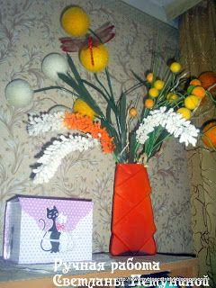 Из искусственных цветов-3