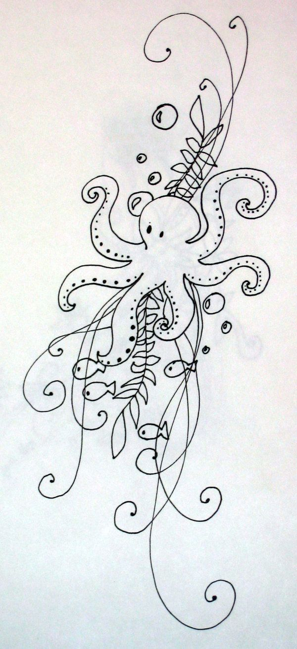 Octopus Tattoo Design by MichiyoYlaitsuki.deviantart.com on @deviantART