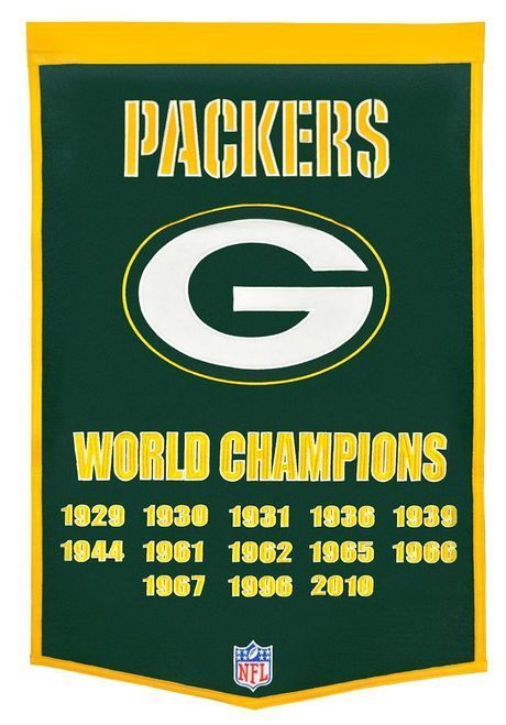 "Green Bay Packers 24""""x36"""" Wool Dynasty Banner Z157-7408877010"