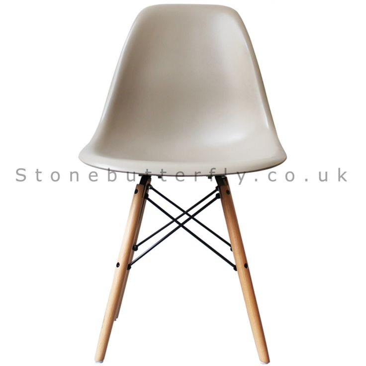 Charles Ray Eames Style DSW Side Chair - Beige