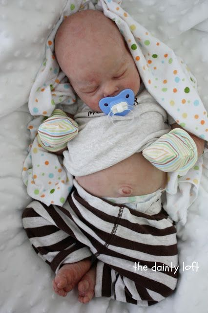the dainty loft: May 2013 Silicone Logan Brown REBORN ~ painted by ' the dainty loft '. A baby by KrisC