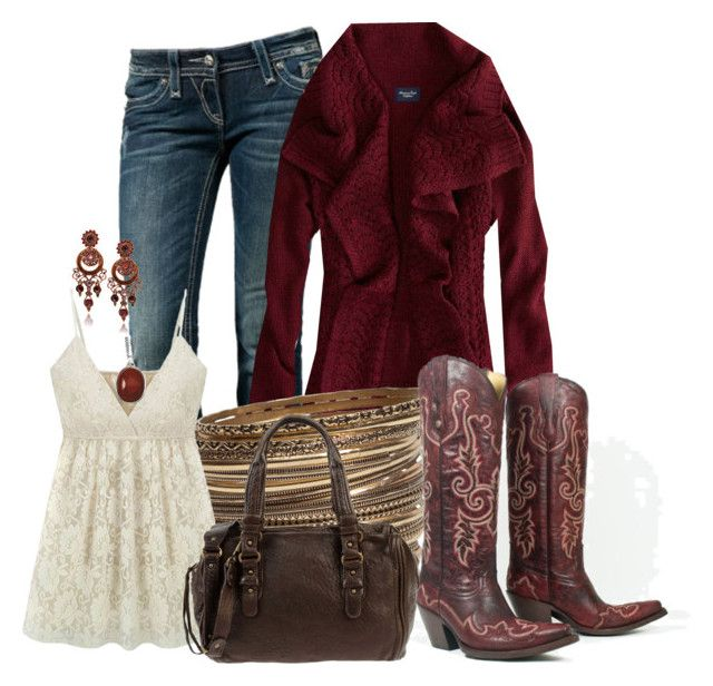 """""""Cute Country Cozy"""" by christina-young ❤ liked on Polyvore featuring Rock Revival, American Eagle Outfitters, H&M, Abaco, Reeds Jewelers and country"""