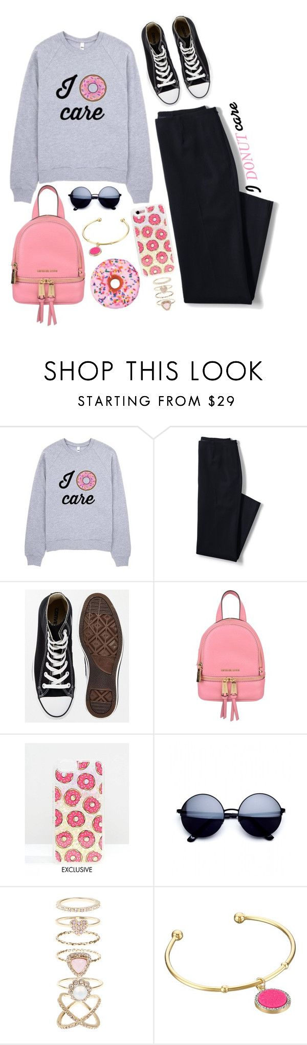 """I don't care"" by elviretta on Polyvore featuring moda, Lands' End, Converse, MICHAEL Michael Kors, Skinnydip, Accessorize e Kate Spade"
