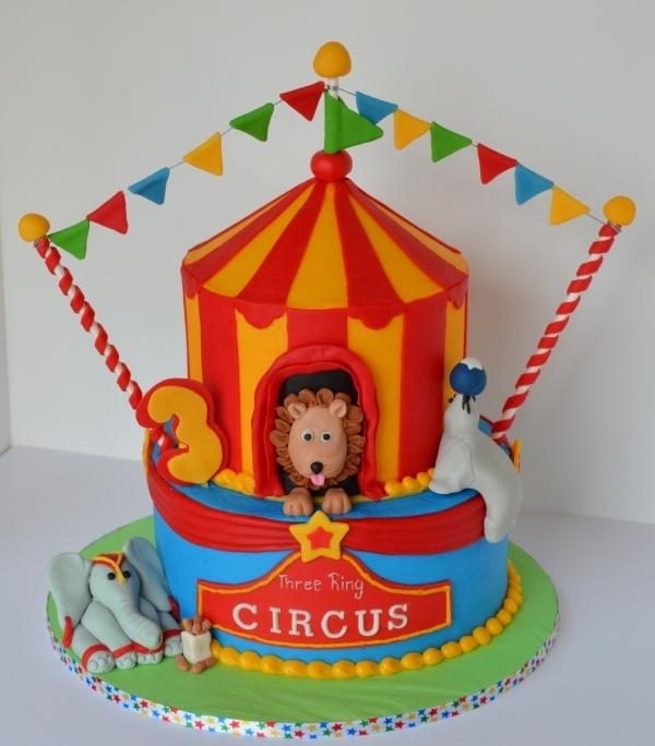 .Circus Clown Carnival Cake Birthday