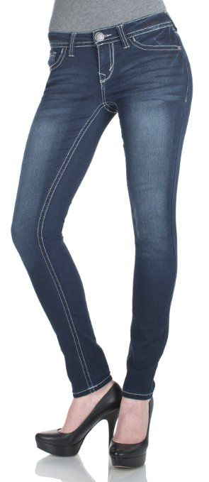 Amazon.com: WallFlower Juniors Classic Sassy Skinny Jeans in Delta Tint: Clothing