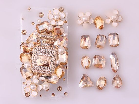 New Luxury Perfume Bottle Gems II DIY Phone Case Deco Den Kit & Free iPhone Case