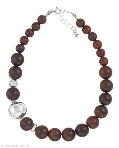 """Gorgeous silpada piece...   Make an impressive entrance or an unforgettable exit in this Agate Necklace with Electroformed Sterling Silver accents. 17½"""" long with a 2"""" Extender and a Lobster Clasp."""