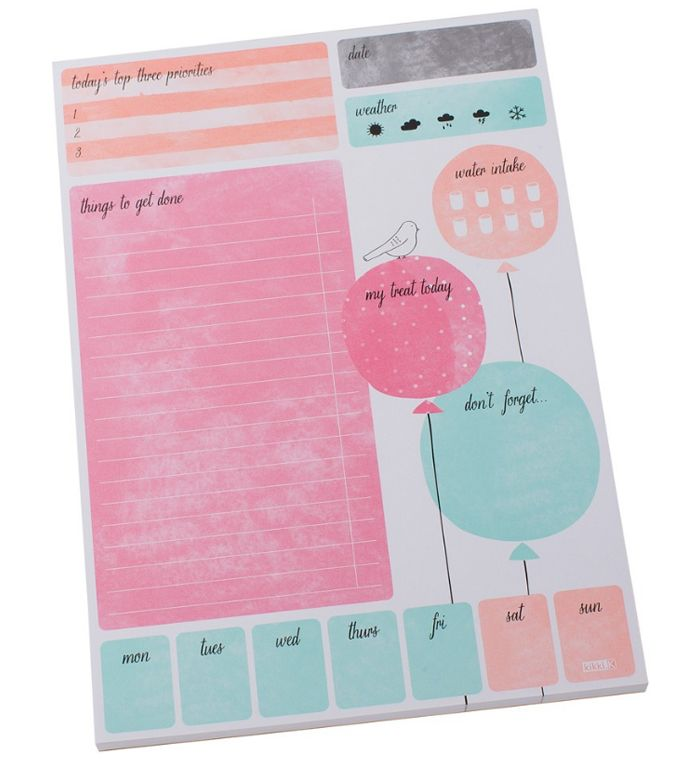 Feeling like you need to get your daily schedule in gear? This day planner by Kikki.K is adorable and functional.