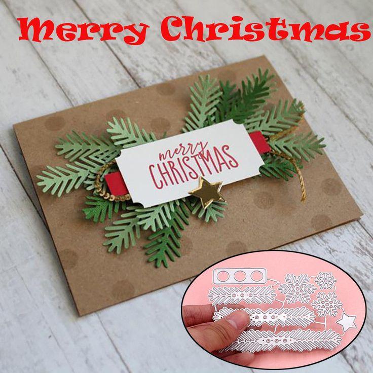 Metal Christmas Tree Wreath Cutting Dies Molds DIY Paper Craft Stencil Scrapbook #UnbrandedGeneric