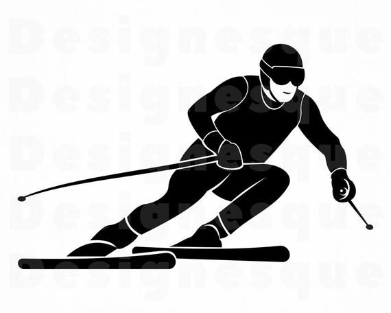 Skiing 3 Svg Skiing Svg Skiing Clipart Skiing Files For Etsy In 2021 Clip Art Svg Skiing